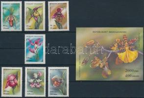 1993 Orchideák sor Mi 1570-1576 + blokk Mi 239