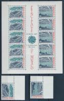 1976 Europa CEPT ívsarki sor Mi 1794-1795 + blokk 35
