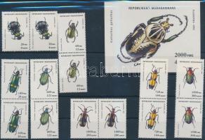 1994 Bogarak sor párokban Mi 1656-1662 + blokk 254
