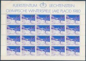 Winter olympics minisheet set, Téli olimpia kisívsor