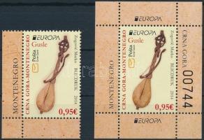 2014 Europa CEPT Hangszerek ívsarki bélyeg + blokk Mi 349 + 14