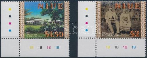 2001 100 éves Niue hozzácsatolása Új Zélandhoz ívsarki sor Mi 966-967