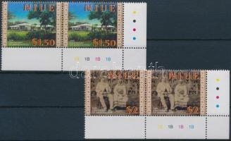 2001 100 éves Niue hozzácsatolása Új Zélandhoz sor ívsarki párokban Mi 966-967
