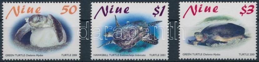 2001 Teknősök sor Mi 959-961