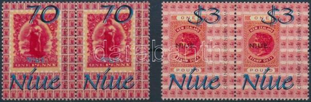 2001 100 éves a bélyegkiállítás sor párokban Mi 953-954