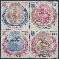 1972 Nyári olimpia négyestömb Mi 1045-1048