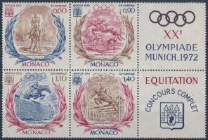 1972 Nyári olimpia sor szelvényes hatostömbben Mi 1045-1048