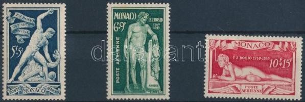 1948 Szobrok sor 3 repülő értéke Mi 353-355