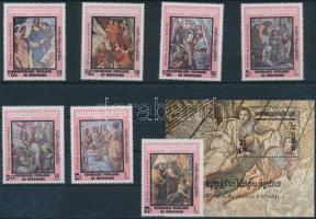 Raphael paintings set + block, Raffaello sor + blokk