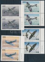 1986 Repülők sor ívszéli párokban Mi 360-363