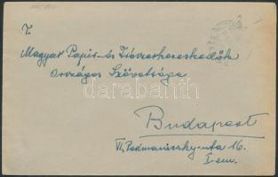 1945 (2.díjszabás) Távolsági levél KÉSZPÉNZZEL (BÉRMENTESÍTVE) fekete bélyegzéssel