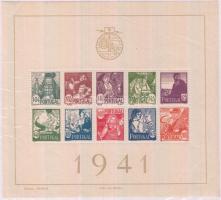 1941 Népviseletek (I.) blokk Mi 4