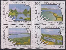 1987 Természetvédelem négyestömb Mi 2005-2008