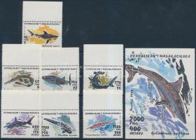 1993 Cápák ívszéli sor Mi 1527-1533 + blokk Mi 210