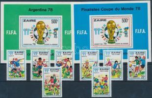 1978 Labdarúgó világbajnokság sor Mi 558-565 + blokkpár Mi 18-19