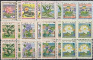 1980 Vízi virágok sor négyestömbökben Mi 1077-1084