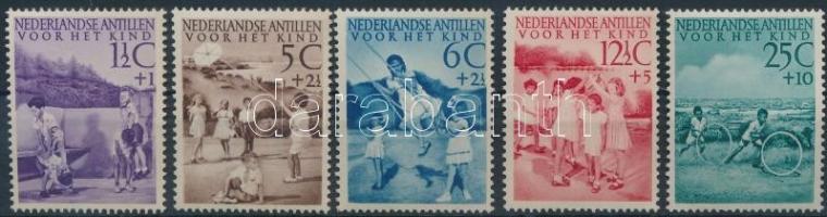 1951 Gyermekjátékok sor Mi 29-33