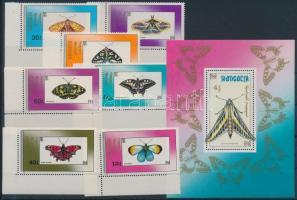 1990 Lepke ívsarki sor Mi 2190-2196 + blokk 156