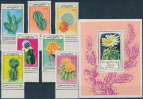 1989 Kaktuszok ívszéli sor Mi 2050-2056 + blokk Mi 137