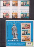 1979 Rowland Hill halálának 100. évfordulója sor ívközéprészes párokban Mi 109-111 A + blokk 3