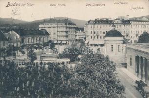Baden bei Wien, Hotel Bristol, Cafe Josefplatz, Josefbad