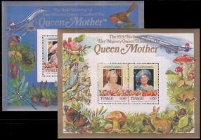 85th birthday of Queen Mother Elizabeth block, Erzsébet anyakirálynő 85. születésnapja blokk