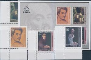 2008 125 éve született Kahlil Gibran ívsarki sor + blokk Mi 1490-1493 + 53