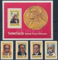 1980 Nobel-díjasok sor Mi 494-497 + blokk 22