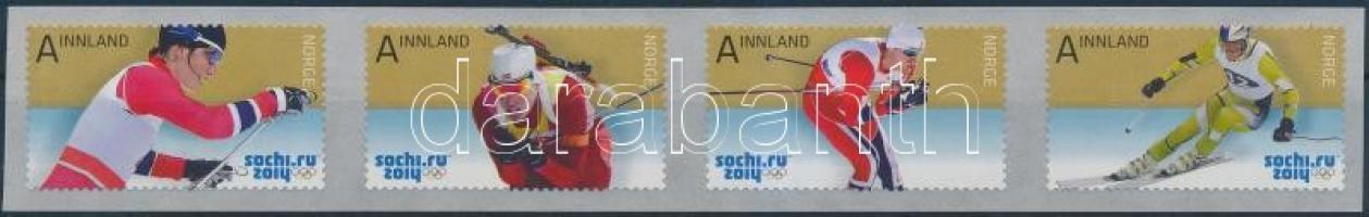 2014 Téli olimpia Sochi öntapadós sor Mi 1839-1842