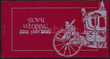 1986 András herceg és Sarah Ferguson esküvője bélyegfüzet Mi 848-851