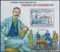 Pierre de Coubertin block, 150 éve született Pierre de Coubertin blokk