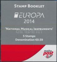 2014 Europa CEPT Hangszerek bélyegfüzet Mi MH 0-16