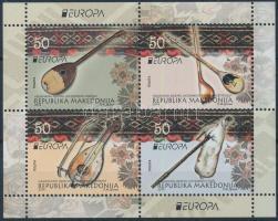 2014 Europa CEPT Hangszerek bélyegfüzet lap Mi 697-700