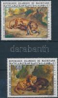 1973 Eugéne Delacroix festmények sor Mi 452-453