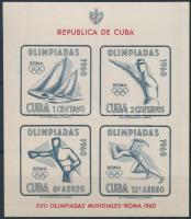 1960 Nyári olimpia vágott blokk Mi 18