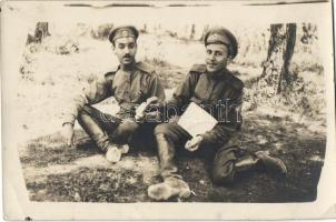 Russian soldiers in Mailly-le-Camp, photo, Orosz katonák, Mailly-le-Camp, fotó