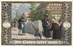 Ihr Lieben lebet wohl. Verlag v. Bund der Deutschen in Böhmen / German soldiers s: E. Kutzer, Német katonák, s: E. Kutzer