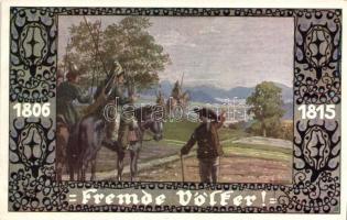Fremde Völker. Verlag v. Bund der Deutschen in Böhmen / German military art postcard s: E. Kutzer, Német hadsereg, művészeti képeslap, s: E. Kutzer