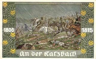 An der Katzbach. Verlag v. Bund der Deutschen in Böhmen / German military art postcard s: E. Kutzer, Német hadsereg, művészeti képeslap, s: E. Kutzer