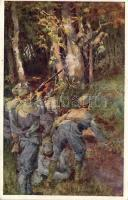 Aus dem goldenen Buche der Armee Serie III. Rotes Kreuz Postkarte Nr. 351. / K.u.K. military art postcard s: Marussig, K.u.K. katonai művészeti képeslap, s: Marussig