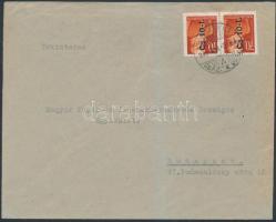 1946 (8. díjszabás) Helyi levél Betűs I. 2xCs.10-I/70f bérmentesítéssel