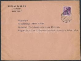 1946 (8.díjszabás) Helyi levél Betűs II. Cs.5-2./24f bérmentesítéssel
