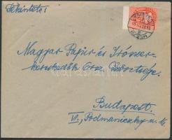 1946 (10.díjszabás) Távolsági levél Lovasfutár 10eP tévesen alul bérmentesítve
