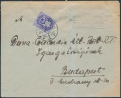 1946 (11.díjszabás) Távolsági levél Lovasfutár 80eP bérmentesítéssel (kis szakadás a borítékon)