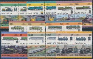 1986 Vasút sor 2 párt tartalmazó négyestömbökben Mi 814-829