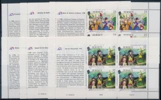 1989 A francia forradalom 200. évfordulója 6 klf bélyegfüzetlap H-Bl. 0-50 - 0-55 (Mi 485-490)