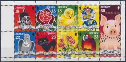 1995 Üdvözlőbélyegek bélyegfüzetlap H-Bl. 14 (Mi 678-686)