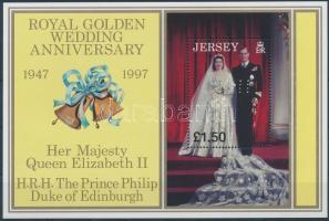 1997 II. Erzsébet királynő és Fülöp herceg esküvője blokk Mi 16