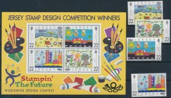 2000 Nemzetközi festőverseny gyerekeknek sor Mi 924-927 + blokk Mi 25