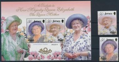 2000 Erzsébet királynő sor Mi 949-950 + blokk Mi 27